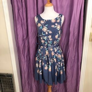 LC Lauren Conrad Floral Cocktail Dress